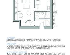 Nro 5 kilpailuun Interior design for my new apartment käyttäjältä nikola696