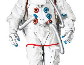 #9 para Illustrate/design a realistic Astronaut for printing por Headnhand