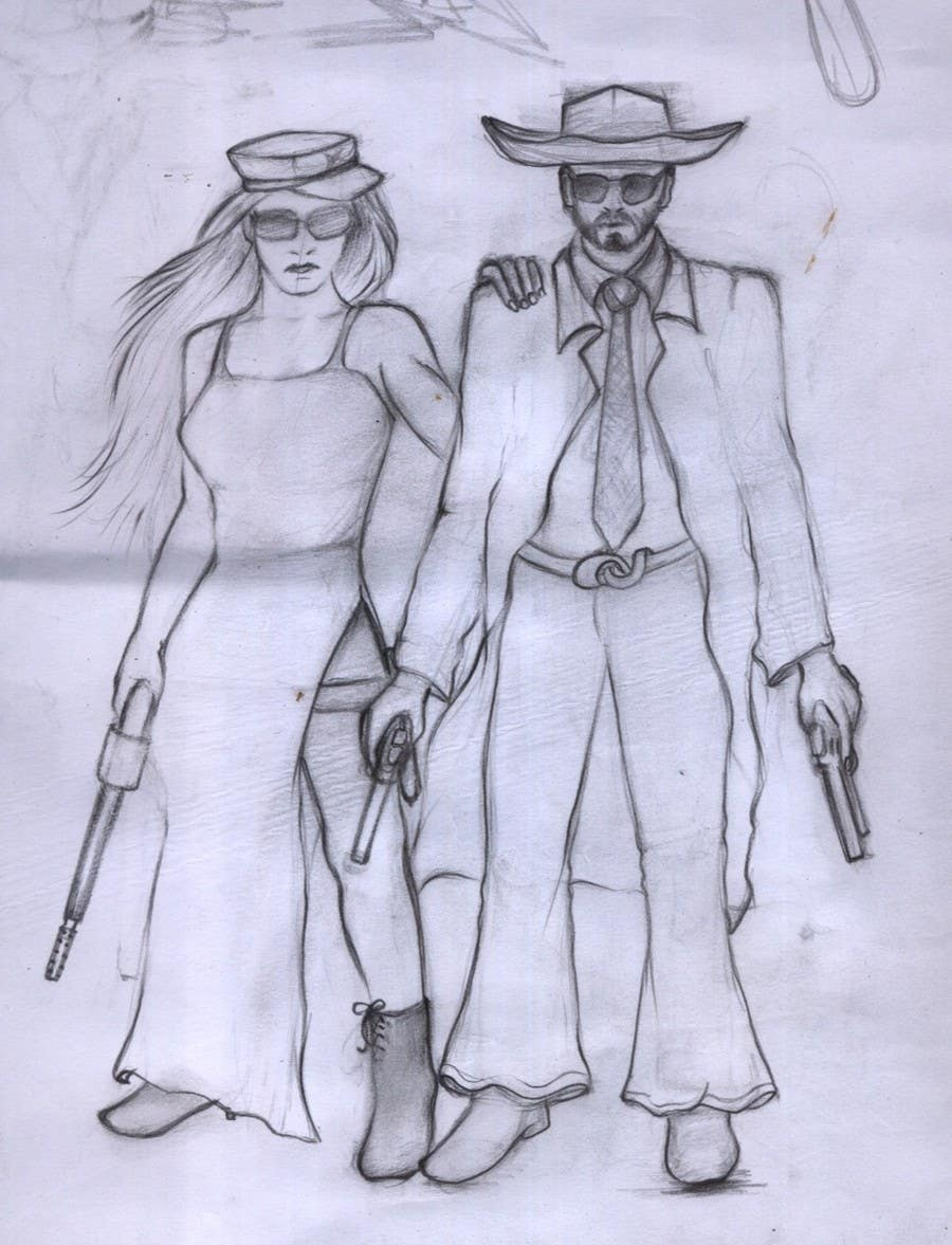 #9 for Create 2 Gunman Characters — Female & Male by mainulislam85