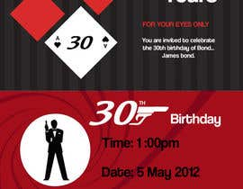 #40 pentru Graphic Design for Birthday Party Invitation de către illet03
