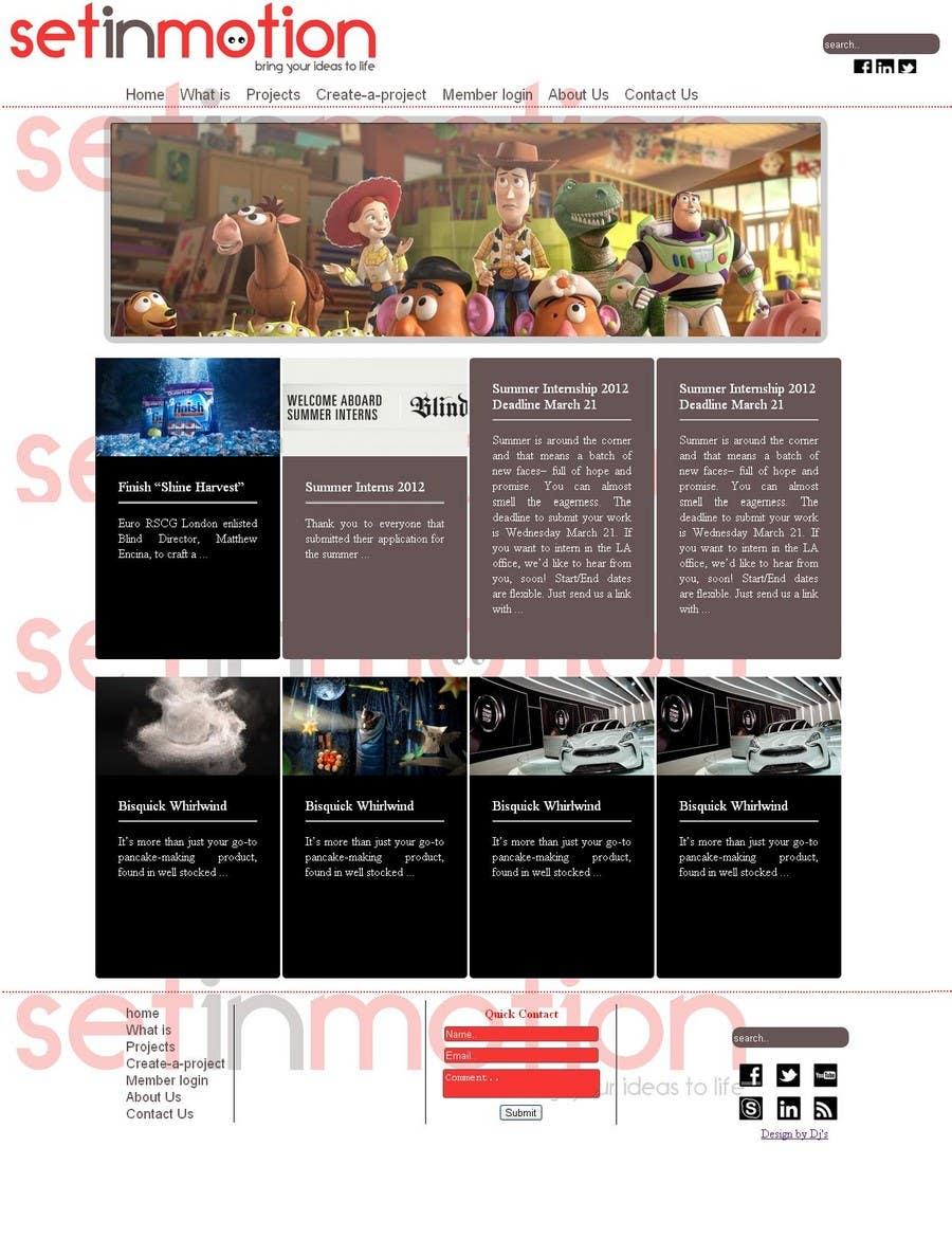 Contest Entry #                                        1                                      for                                         Design a website