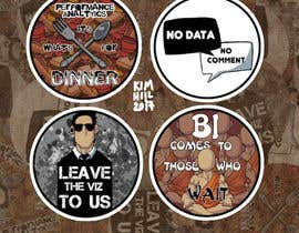 #1 para Design 4 (four) pieces of artwork to be used as badges / button pins por dumbfished