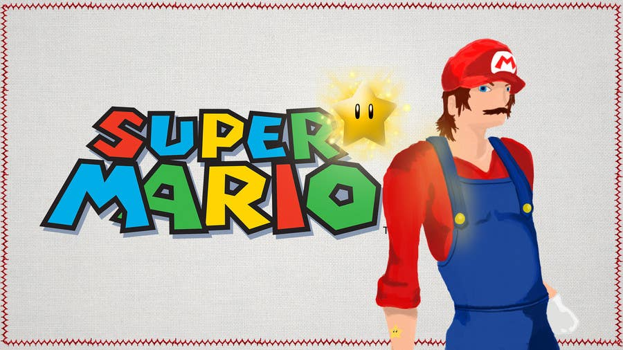 #4 for I need some Graphic Design for Mario Wallpaper by vmacau