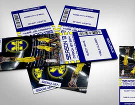 #29 para Design a Basketball Ticket to be used as a place card for party por linxdinx