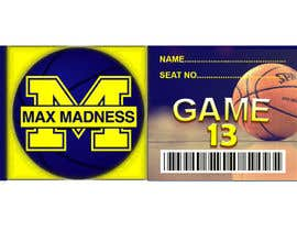 #21 para Design a Basketball Ticket to be used as a place card for party por tanujsarkar