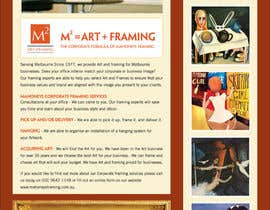 #3 untuk Design an E-Newsletter for framing business oleh Marylou2014