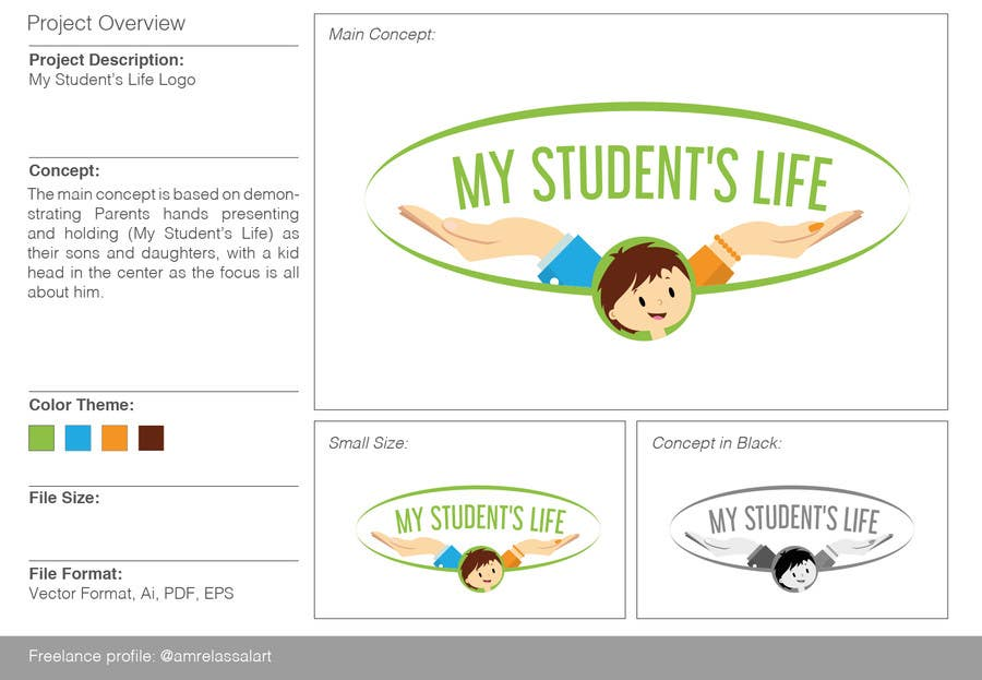 Entry #2 by amrelassalart for Design a logo for a Student's Parent