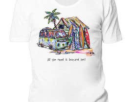 Nro 1 kilpailuun Design a Funky  Surf T-Shirt käyttäjältä razer12