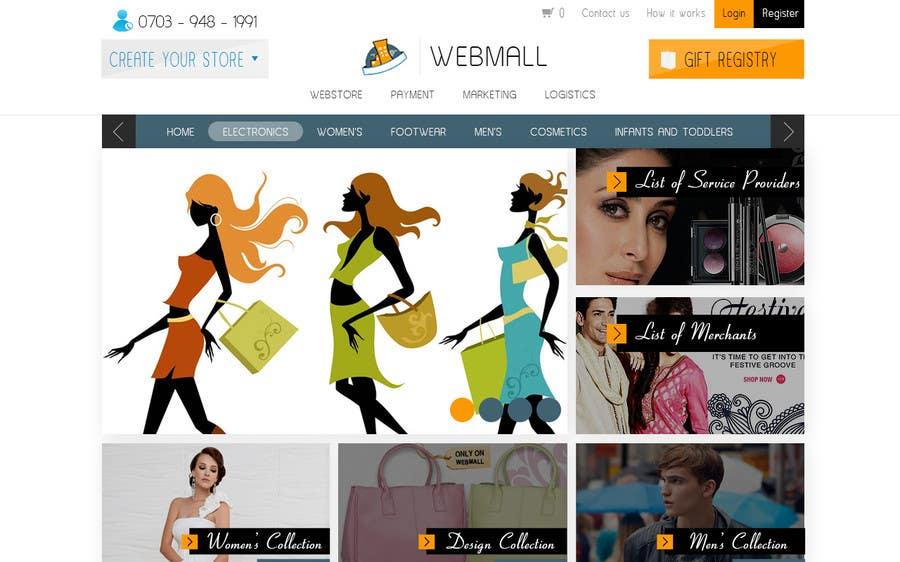 Konkurrenceindlæg #1 for Design a Website Mockup for www.waitersinthebuff.co.uk