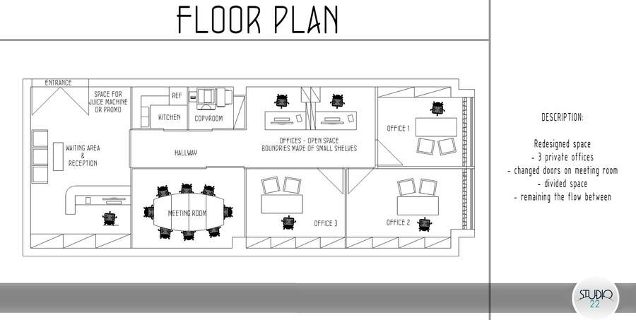 Office Floor Plan And Furniture Layout Freelancer
