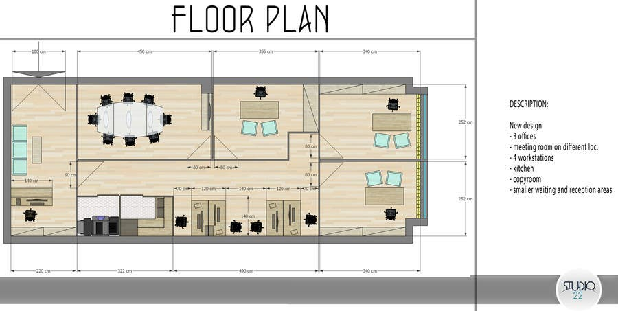 Contest Entry 26 For Office Floor Plan And Furniture Layout