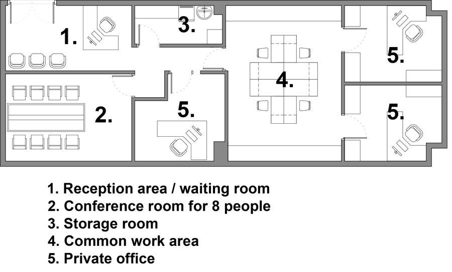 Contest Entry 19 For Office Floor Plan And Furniture Layout