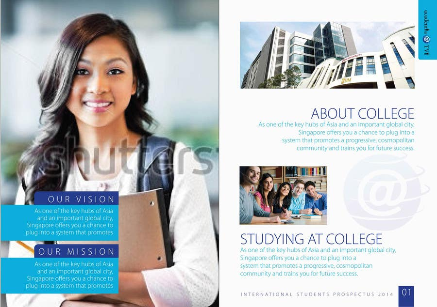 Design a brochure for an education institute freelancer for Brochure design for training institute