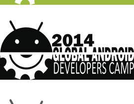 nº 11 pour Design a Logo for Global Android Developer Camp 2014 par raquelmela