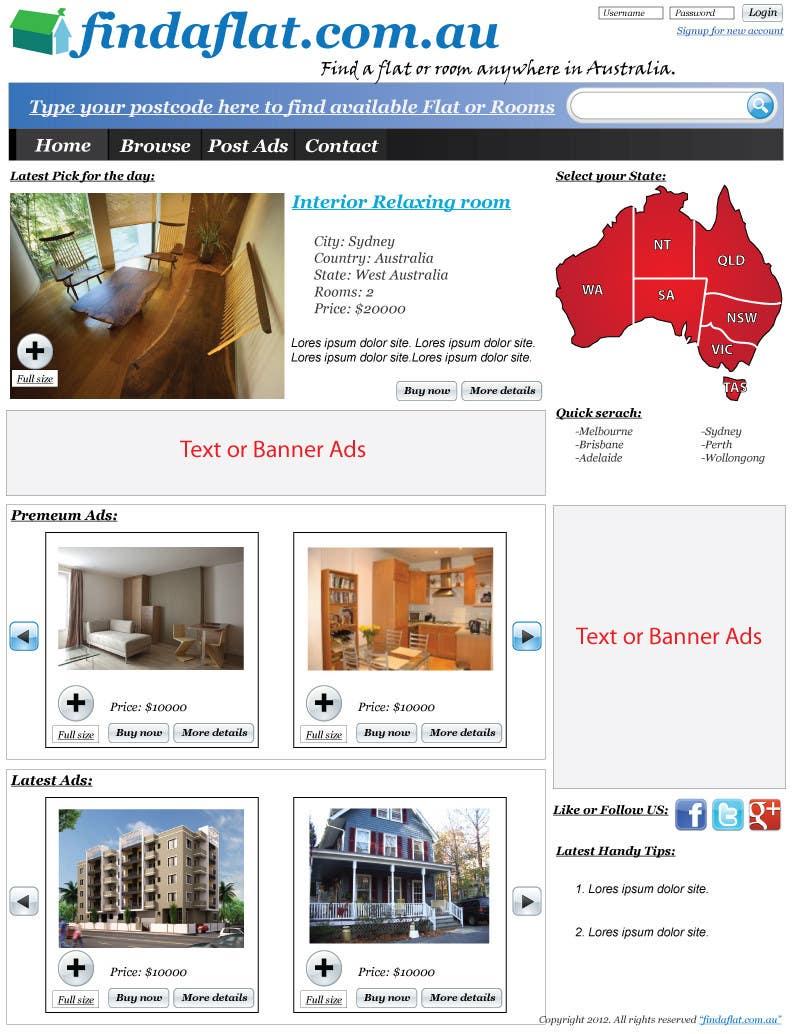 Inscrição nº                                         8                                      do Concurso para                                         Graphic Design for The business is called 'FindAFlat.com.au'