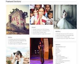 Nro 9 kilpailuun Design a Website Mockup for News Site käyttäjältä syrwebdevelopmen