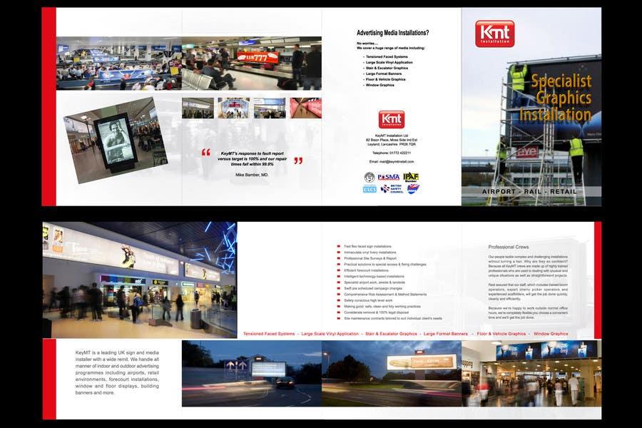 Kilpailutyö #                                        13                                      kilpailussa                                         Brochure Design for KeyMT Installation Ltd