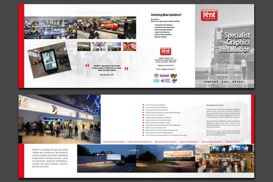 Kilpailutyö #                                        12                                      kilpailussa                                         Brochure Design for KeyMT Installation Ltd