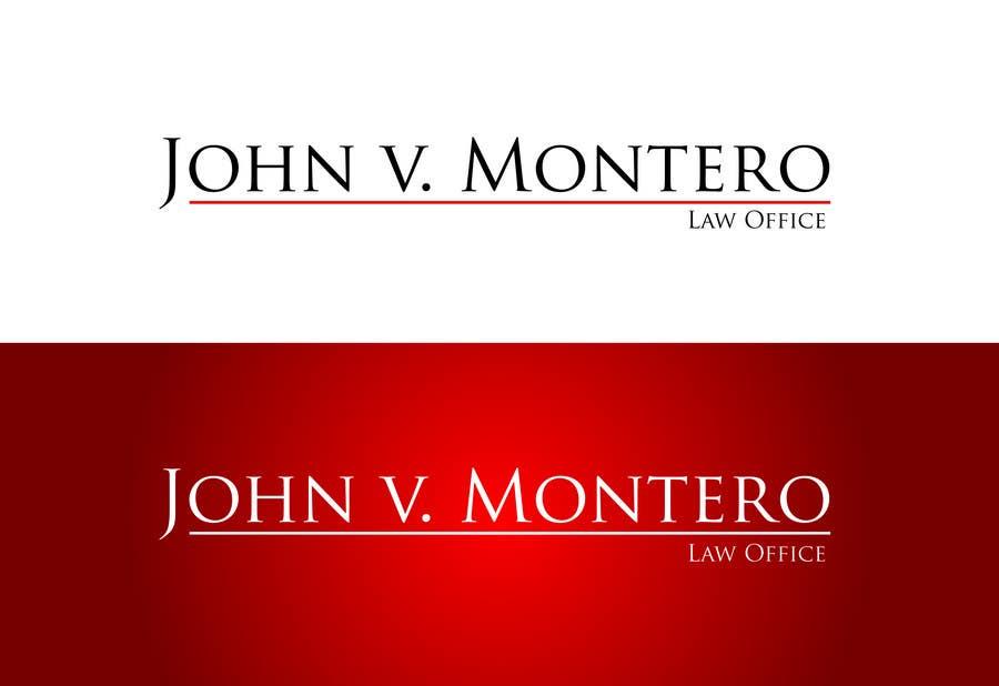 Inscrição nº 22 do Concurso para Logo Design for Law Office of John V. Montero