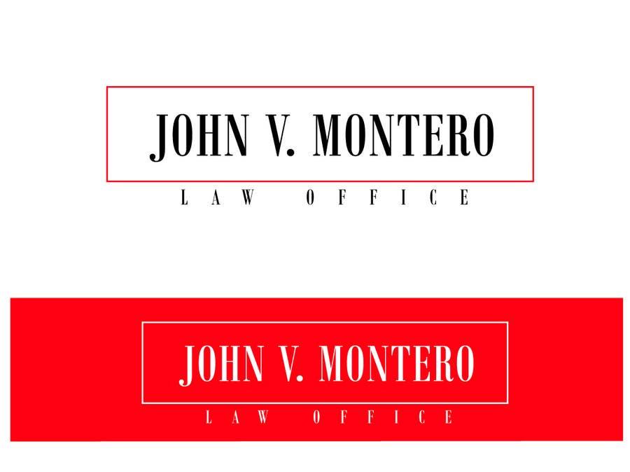 Penyertaan Peraduan #74 untuk Logo Design for Law Office of John V. Montero
