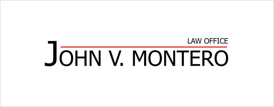 Penyertaan Peraduan #62 untuk Logo Design for Law Office of John V. Montero