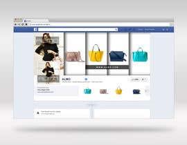 Nro 1 kilpailuun Designing a Facebook landing page for a brand of women handbags käyttäjältä stassnigur