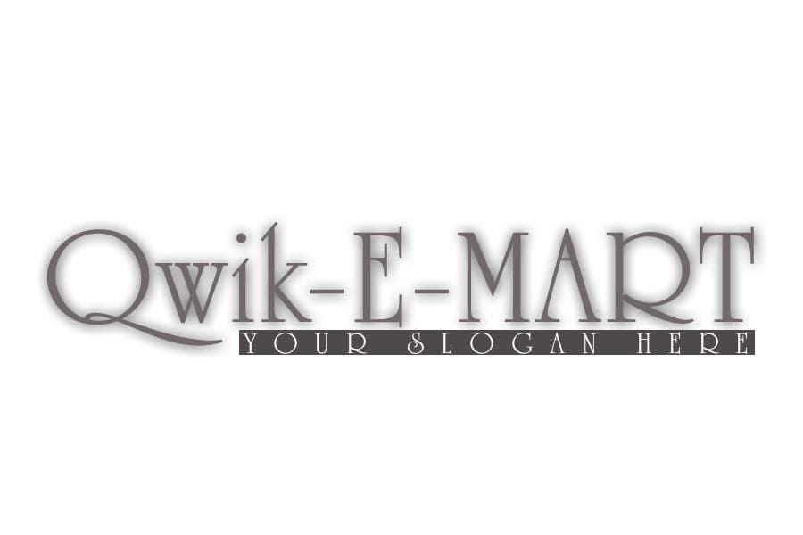Participación en el concurso Nro.32 para Logo Design for Qwik-E-Mart