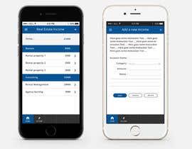 Nro 8 kilpailuun Design two Mobile App Pages käyttäjältä sunnyGoldeneye