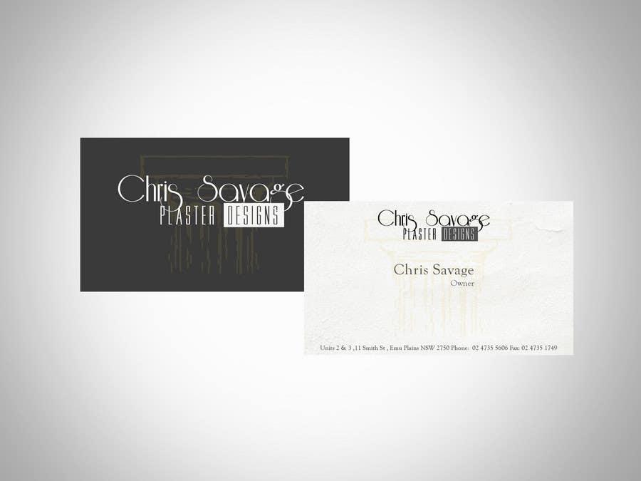 Penyertaan Peraduan #50 untuk Business Card Design for Chris Savage Plaster Designs
