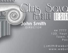 nº 7 pour Business Card Design for Chris Savage Plaster Designs par RNobrega