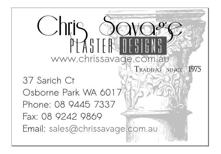 Business Card Design for Chris Savage Plaster Designs için 2 numaralı Yarışma Girdisi