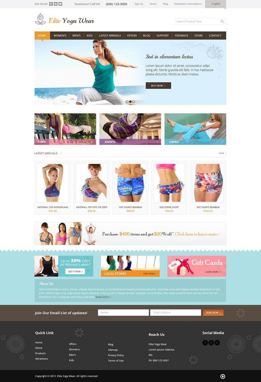 #53 for Design a Website Mockup for Elite Yoga Gear by Pavithranmm