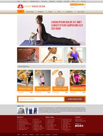#137 for Design a Website Mockup for Elite Yoga Gear by creativedesign06