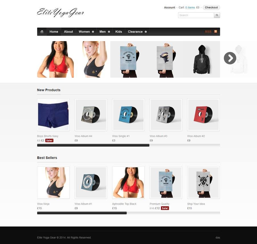 #45 for Design a Website Mockup for Elite Yoga Gear by codeunderground