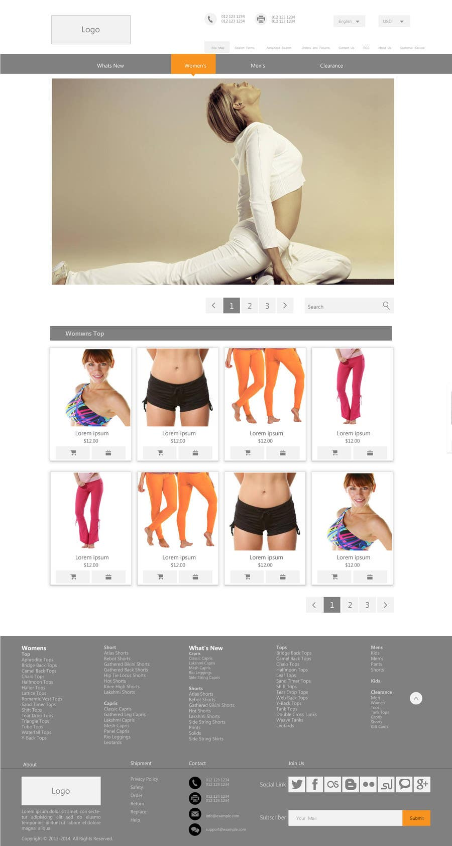 #90 for Design a Website Mockup for Elite Yoga Gear by king5isher