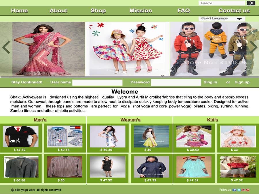 #58 for Design a Website Mockup for Elite Yoga Gear by oliullah79