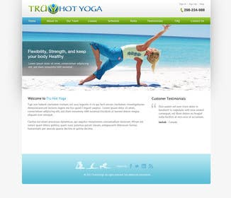#117 for Design a Website Mockup for Elite Yoga Gear by bestatall