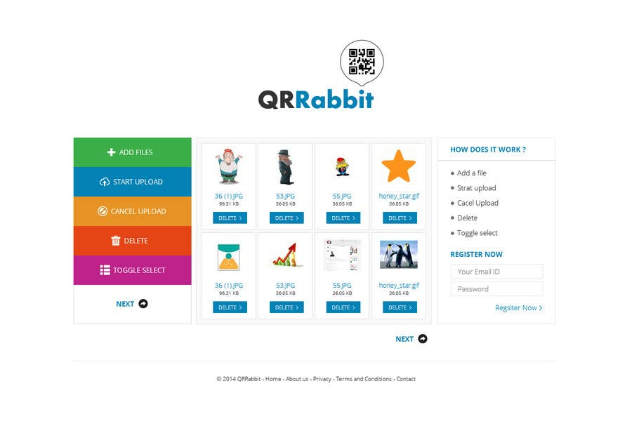#13 for Design a Website User Interface for QRcode generation company by Pavithranmm
