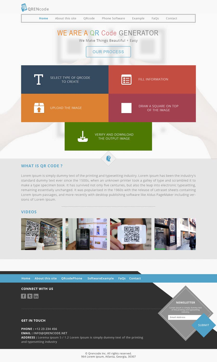 #40 for Design a Website User Interface for QRcode generation company by manishb1