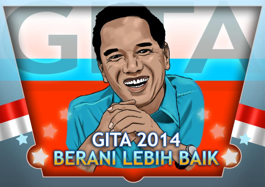 #42 for Design a Logo for an Indonesian President Candidate by Palewind