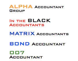 #249 untuk Business name - Accounting firm oleh karlachaffin