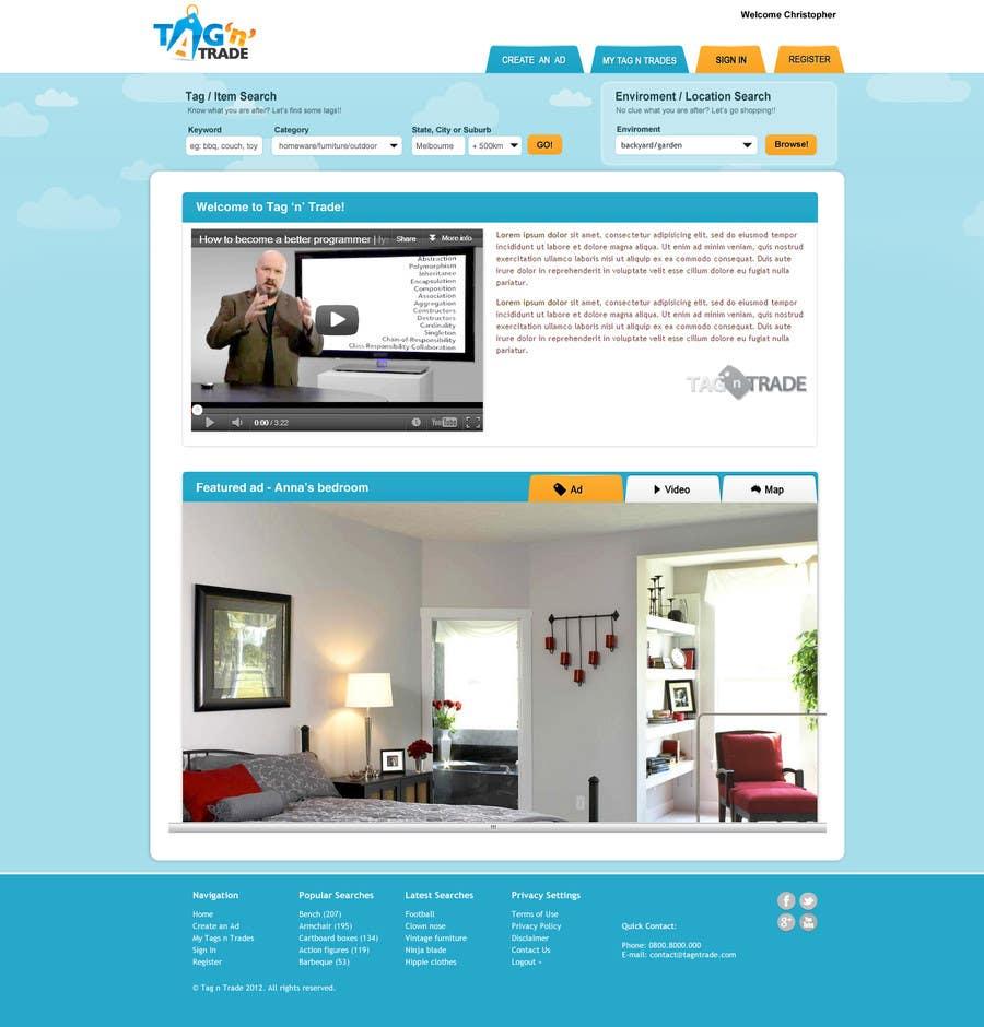 Konkurrenceindlæg #8 for Design a Website Homepage for www.tntbaby.com.au