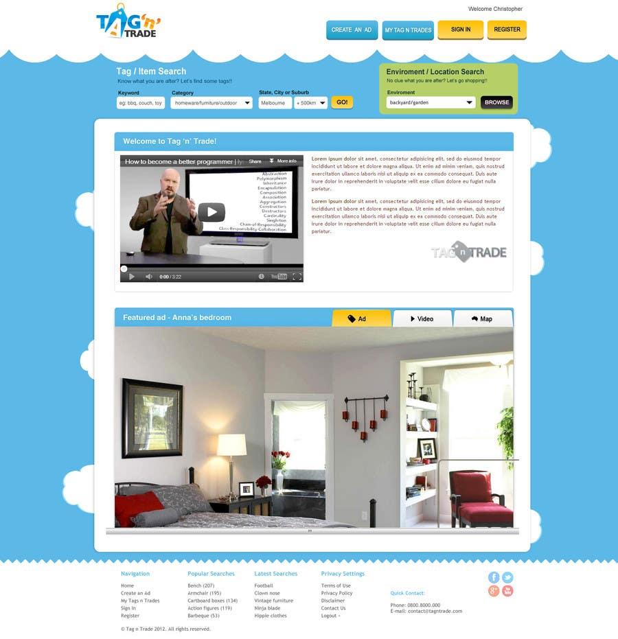 Konkurrenceindlæg #12 for Design a Website Homepage for www.tntbaby.com.au