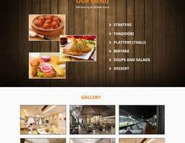 Nro 19 kilpailuun website design for an indian restaurant käyttäjältä gravitygraphics7