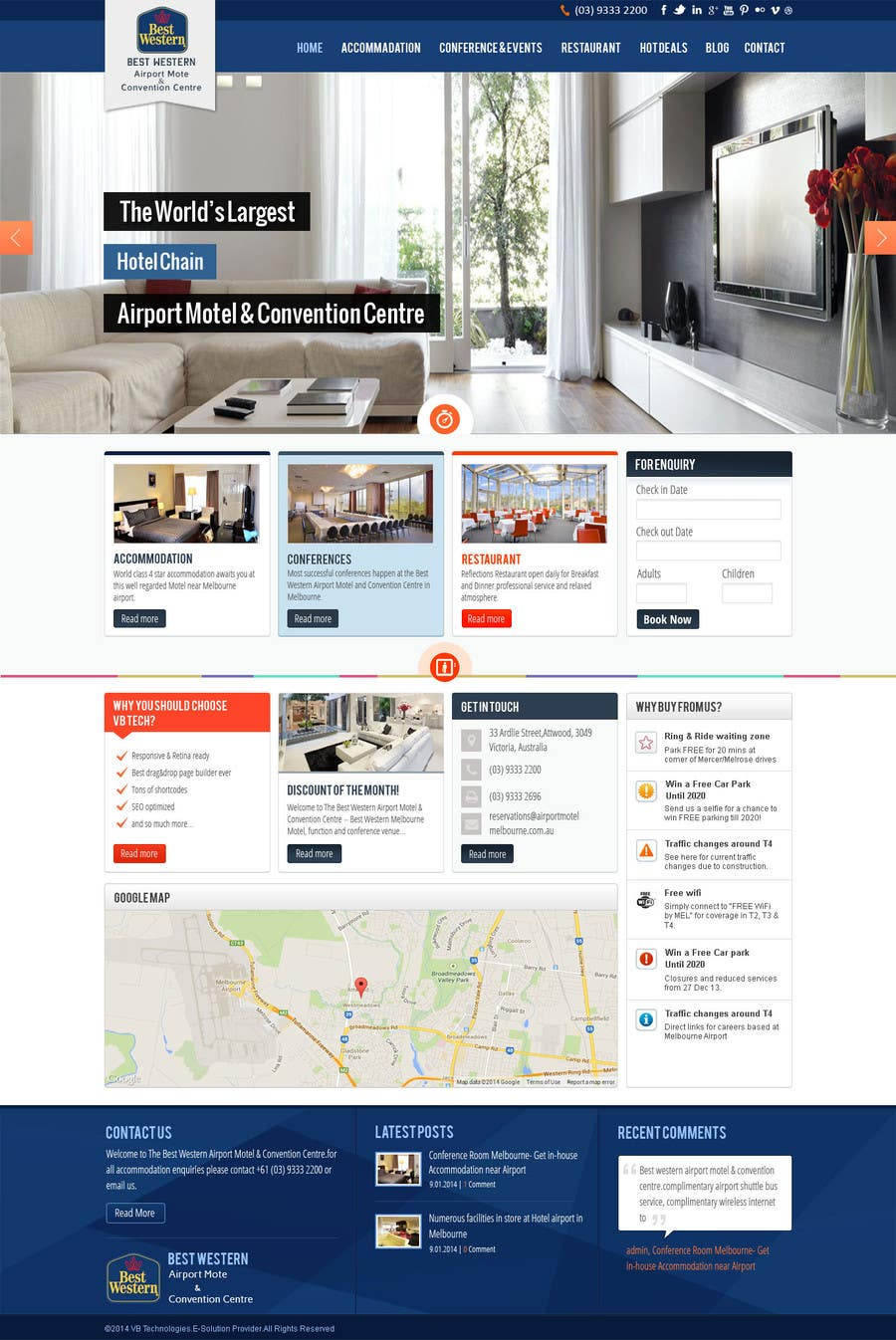 Proposition n°12 du concours Create a Wordpress Template for Hotel