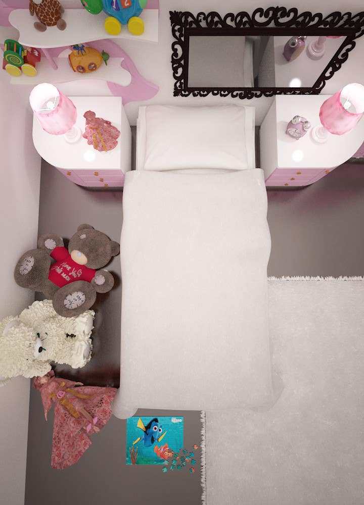 #34 for Create a small, easy and very simple girls bedroom scene by olsiad