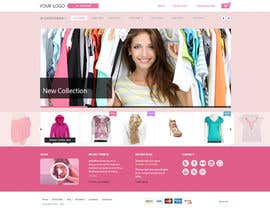 #4 for Design a Website Mockup for Clothes online shop af georgemx