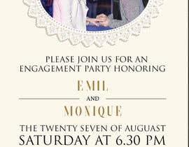 Margaritafree tarafından Design an engagement invitation card için no 38