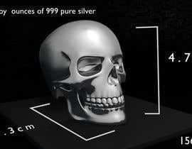 machindo tarafından 3D silver skull için no 3