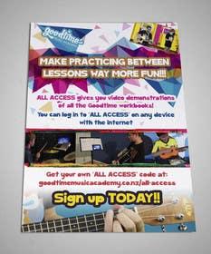 akarakas tarafından Basic A5 Flyer for a music school - EASY BRIEF! için no 1